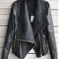 Womens Retro Urban Leather Jacket