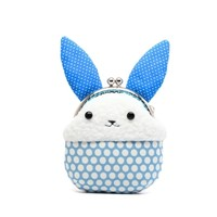 Supermarket: Little blue rabbit plush mini pouch from Misala Handmade Bags & Purses
