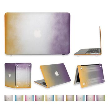 For Apple Macbook Air matte case 11 13 for Mac book 11.6 13.3 15.4 12.1 inch pro retina protector + transparent Keyboard Cover