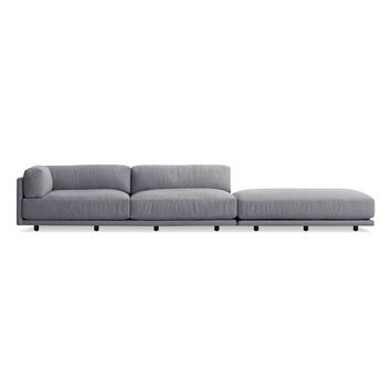 Sunday Long and Low Left Sectional Sofa