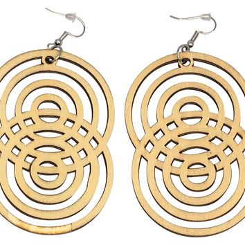 Figure 8 Geometric earrings | Tribal Ear Rings | Natural Hair accessories | Afrocentric Fashion