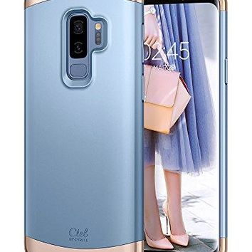 Ciel by CYRILL [Clair Collection] Galaxy S9 Plus Case with Slim Protection and Two-Tone Detachable PC Frame for Samsung Galaxy S9 Plus (2018) - Powder Blue