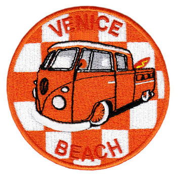 Vintage 60's 70's 80's Style Venice Beach Surf Surfer Surfing Shirt Patch Badge for Cap Hat Beach 9cm