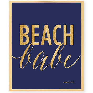 Beach Babe Print - Summer - Beach Art Print - Pretty Chic