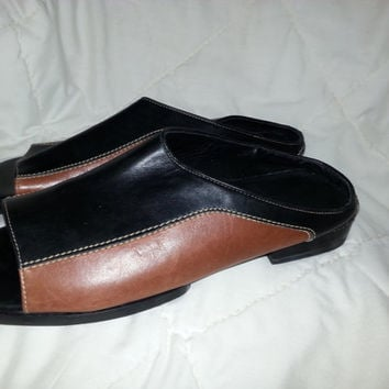 Vintage Cole Haan Country Brown and Black Sandals - Size 10 B