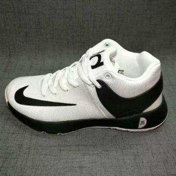 NIKE Women Men Casual Running Sport Shoes Sneakers big high top lack-white(front black hook)