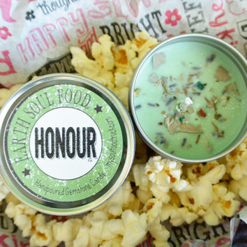 HONOUR Ancestral Earth Gemstone and Herbal Candle