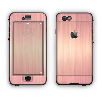 The Rose Gold Brushed Surface Apple iPhone 6 LifeProof Nuud Case Skin Set