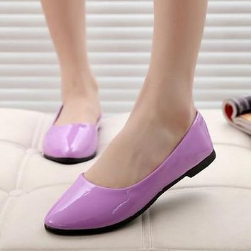 Spring summer  women Leather Shoes Woman Single Shoes Shallow Round Tow Spring Autumn Ballet Flats Shoes women casual shoes