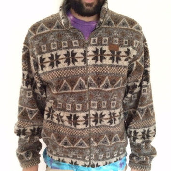 ON SALE Marker retro ski tribal fleece jacket