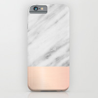 Real Italian Marble and Pink iPhone & iPod Case by Cafelab