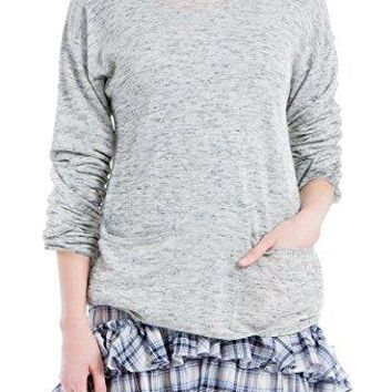 MAXSTUDIO Round-Neck Pullover Sweater
