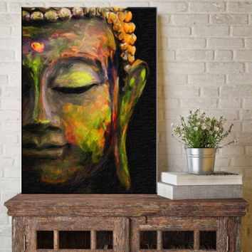 canvas painting Wall Art Single Panel Modern Large Oil Style Buddha Wall Print on Canvas Home Living Room Decorations