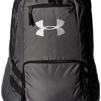 Under Armour Unisex Team Hustle Backpack, Graphite (040)/Silver, One Size
