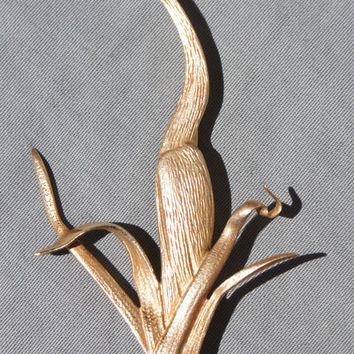 Tiffany & Co. 14k Crane Brooch Mothers Day Gift