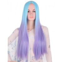 Blue and Purple Ombre Wig