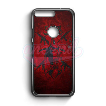 Deadpool Marvel Simple Logo Google Pixel Case | aneend.com