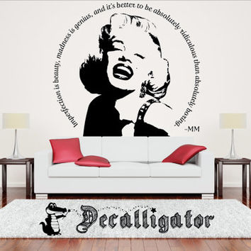 Wall Decal - Marilyn Monroe with Quote or Star - Vinyl Wall Art - Perfect Statement Piece for Any Room [001 & 002]