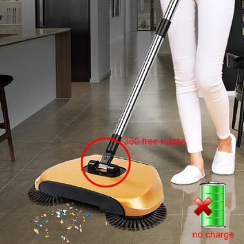 Stainless Steel Sweeping Machine Push Type Hand Push Magic 360 Broom Dustpan Handle Household Cleaning Package Hand Push Sweeper