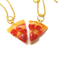BFF Pizza Necklaces