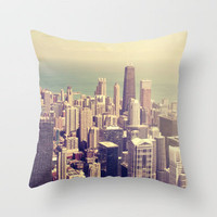 Metropolis Throw Pillow by Sabine Doberer | Society6