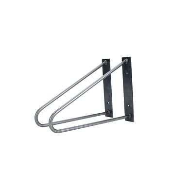 Pair of Original Hairpin Shelf Brackets | Floating Desk Brackets