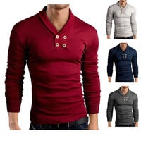 New Style Men's Fashion Long Sleeve Tee