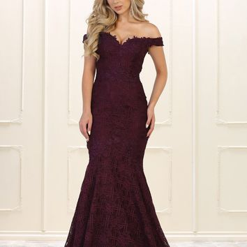 Long Prom Dress Evening Off Shoulder Gown