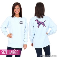 Monogrammed Comfort Colors Labrador Retriever Sweatshirt | Marley Lilly