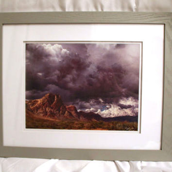 10x13 Canvas - Framed - Calm Before The Storm - 50% Off - Signed & Numbered (#7/10) - S. Joseph Walker Photography - Only 4 Remaining
