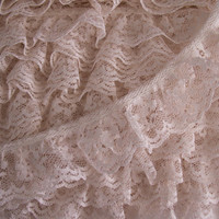 5 YARDS, Ivory  Ruffled Lace Trim,Apparel,Fascinator Lace Trim,Costumes,Bows,Sachet Lace Trims,Doll Clothes,Sewing Lace,Crafting Lace