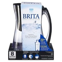 Brita Marina Pitcher - Black/Clear (8cup)