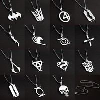 Marvel's The Avengers Stainless Steel Pendant Necklace