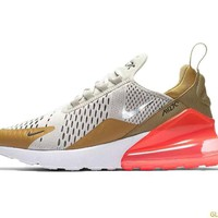 Nike Air Max 270 + Crystals - Flat Gold/Light Bone