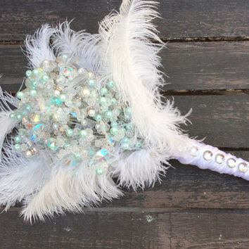 Bridal/Wedding Bouquet (artificial,beads,wire)