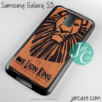 lion king broadway musical Phone case for samsung galaxy S3/S4/S5