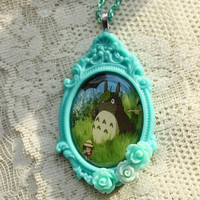 $18.50 Totoro Tribute  My Neighbor Totoro Necklace by GlitzCouture