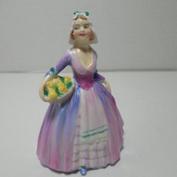 Royal Doulton Figurine, Janet, Gift for her, Rare collectible figurine, M6, Miniature ladies, unique gift, 1940's Vintage, Gingerslittlegems