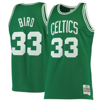 Men's Boston Celtics Larry Bird Mitchell & Ness Kelly Green 1985-86 Hardwood Classics Swingman Jersey - Best Deal Online
