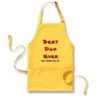Custom Name or Sentiment Best Dad Ever V2 Aprons from Zazzle.com