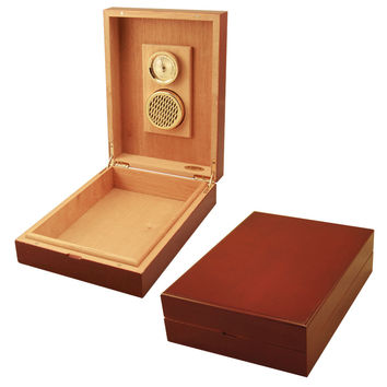 Travel Humidors Cuban Crafters Cherrywood Traveler Humidor for 8 Cigars