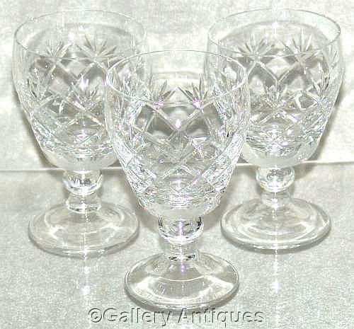 Three Vintage Crystal Cut Glass 4 From Gallery Antiques