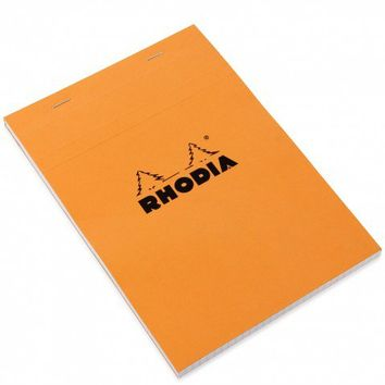 Rhodia orange A5 stapled pad with grid pages - Notebooks - Stationery