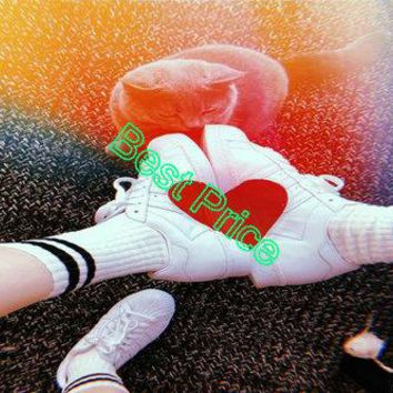 2018 Cheap Priced Unisex Adidas Originals Superstar 80s Half Heart White Sneakers CQ3009 fashion shoe