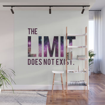 The Limit Does Not Exist - Mean Girls quote from Cady Heron Wall Mural by allier