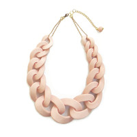 Pink chunky chain necklace, chain link statement necklace
