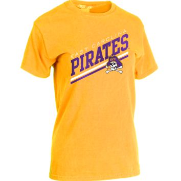 Official NCAA East Carolina Pirates ECU Diamond Bucs Victory Classic Crew Neck T-Shirt