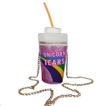Novelty Designer Handbags High Quality Unicorn Tears Bag Women Personalized Drink Soda Bottle Shoulder Bag