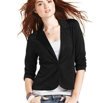 American Rag Juniors Blazer, Three-Quarter Sleeve - Juniors Jackets & Vests - Macy's