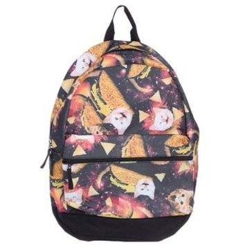 Taco Cat Galaxy Space Kitty Universe Food Laptop Bag Backpack